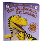 恐龙怎么吃饼干 香味书英文原版How Do Dinosaurs Eat Cookies学乐