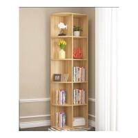 定做转角柜实木书柜书架墙角组合储物柜格子三角置物收纳松木小柜 0.6米以下宽