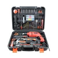 哈博 家用五金工具套装 电工维修组合手动工具箱组套多功能冲击电钻