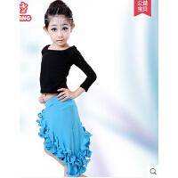 拉丁舞裙夏季表演少儿练功服幼儿舞蹈裙 儿童拉丁舞服装女童舞蹈服