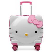儿童拉杆箱宝宝行李箱万向轮卡通小学生旅行箱可爱女童19寸登机箱 19寸【送箱套、贴纸和行李牌】