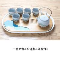 【家�b� 夏季狂�g】日式功夫茶具套�b�k公室用小套茶�丶矣煤��s�Y婚*陶瓷整套�Y盒