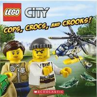 【中商原版】乐高城市 警察,鳄鱼,骗子! 英文原版 Lego City Cops, Crocs, And Crooks