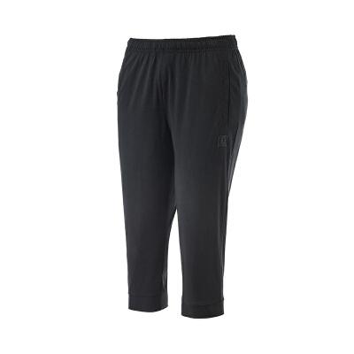 361运动裤女款2019春季新款361度正品透气针织休闲裤子跑步七分裤561829753