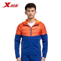 特步男子运动外套秋款时尚潮流运动休闲跑步外套连帽上衣983129061267