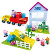 小猪佩奇玩具邦宝益智大颗粒积木佩琪女孩玩具过家家开心郊游儿童礼物A06082