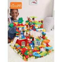 兼容乐高积木玩具男孩子3-6周岁儿童1-2女孩7拼装8积木桌10益智