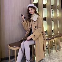 毛菇小象毛衣女秋冬外穿套头2045新款宽松圆领显瘦绑带毛针织衫