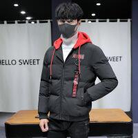 冬季棉衣男连帽短款韩版潮流男士加厚修身大码棉袄外套保暖棉服男815棉衣