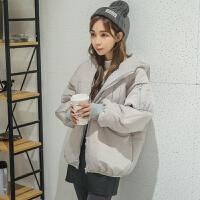 2018冬装新款ulzzang加厚棉衣ins面包服女短款学生韩版bf外套 灰色 送运费险
