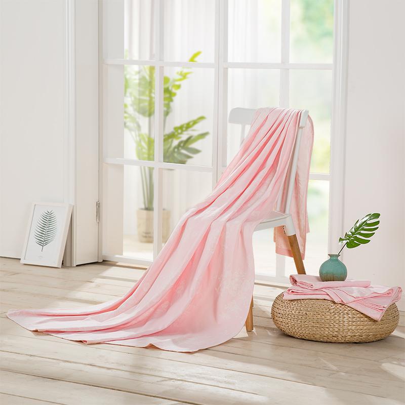 lovo家纺床上用品全棉纯棉全棉双层提花毛巾被薄毯子披肩空调毯夏被夏凉被