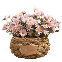 小雏菊仿真花束塑料绢花插花假花室内装饰花干花摆设客厅摆件花篮