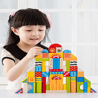 花纹大颗粒积木儿童玩具1~3岁 宝宝积木玩具