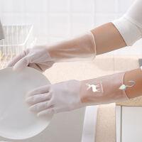 抖音洗碗手套女防水橡胶薄款厨房耐用洗衣服胶皮塑胶家务刷碗神器