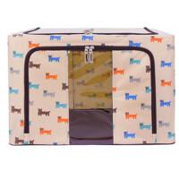 牛津纺布钢架收纳箱折叠加大号储物箱防水棉被子衣物整理箱
