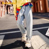 巴拉巴拉童装儿童裤子女童春装2020新款中大童弹力牛仔裤韩版洋气