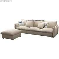 北欧沙发小户型羽绒乳胶布艺沙发三人位组合客厅整装现代简约家具 电视柜 坐垫全乳胶款( 颜色备注)