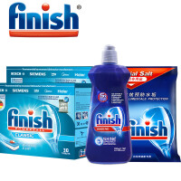 Finsh光亮碗碟洗碗机专用洗涤组合(洗碗块*2+漂洗剂+软化盐)