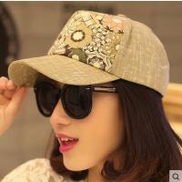 帽子网红同款时尚女户外运动新品韩版潮 碎花遮阳棒球帽 男女士防晒太阳帽防晒帽