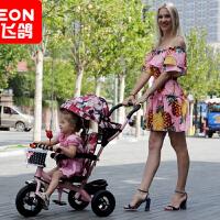 飞鸽儿童三轮车脚踏车1-2-3-4-5岁大号轻便手溜娃神器单车男孩女孩宝宝手推车小孩自行车