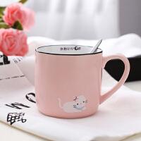 白领公社 创意水杯 创意DIY定制照片马克杯子陶瓷水杯情侣咖啡杯带盖勺生日礼物送女友