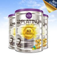 澳洲A2 白金婴儿奶粉系列2段900g 3罐装 海外购