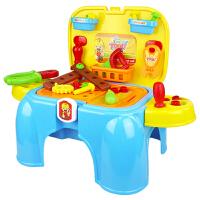 儿童工具箱过家家玩具工具台维修套装椅子板凳游戏椅男孩礼物