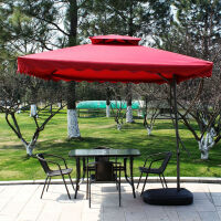 户外桌椅伞庭院休闲阳台铁艺咖啡奶茶店桌椅组合三五件套室外桌椅 +扳手伞水箱底
