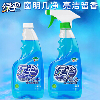 绿伞 玻璃清洁剂500g*2瓶玻璃净亮水 家用玻璃清洁剂