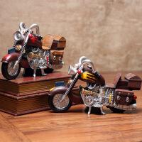 复古怀旧摩托车模型摆件家居客厅电视柜酒柜店铺装饰品摆设