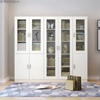书柜书架简约现代自由组合书柜书橱带玻璃门办公书柜储物柜收纳柜