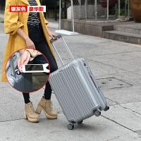 韩版行李箱皮箱拉杆箱万向轮USB可充电20密码旅行箱24寸男女