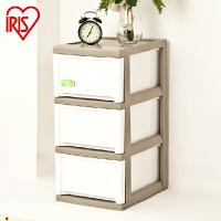 爱丽思IRIS 环保树脂窄型三层塑料抽屉式整理柜储物收纳柜MCD-323