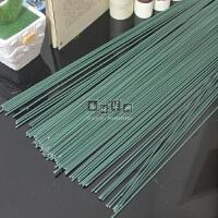 2号 绿色铁丝 玫瑰花杆 川崎玫瑰 手工折纸材料包 铁杆棍 胶包    1支价格