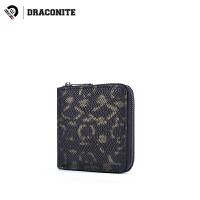 DRACONITE时尚个性潮金色蛇纹短款pu皮钱包情侣卡包零钱包