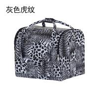 韩国半纹绣工箱手包化妆师化妆箱大号多层大容量 灰色 - 化妆箱