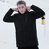 七匹狼羽绒服男中长款冬季时尚韩版运动男士连帽加厚外套男装潮流