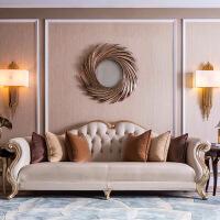 轻奢沙发客厅整装欧式实木沙发 美式轻奢小户型沙发 新古典简欧客厅家具