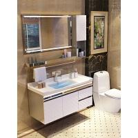 浴室柜组合洗漱台洗手池洗脸盆柜卫生间落地不锈钢卫浴柜吊柜镜柜