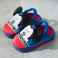 迪士尼儿童棉拖鞋冬季男童女童宝宝小童可爱卡通米奇防滑保暖棉鞋