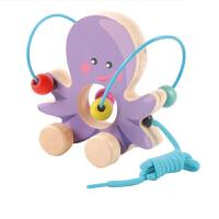 幼儿益智绕珠智力串珠玩具男孩女宝宝积木玩具1-2-3岁