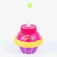 大贸商蛋糕造型吸管杯 饮料杯 可爱卡通水杯水壶塑料批发HH20260
