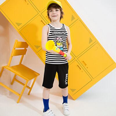 【3件3折到手价:75】小猪班纳童装男童套装2020夏季新款儿童背心五分裤子两件套中大童