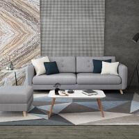 北欧沙发大小户型现代简约布艺沙发单人双人三人日式沙发客厅整装