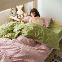 棉水洗棉三件套网红款0.9m床学生宿舍单人女套件宿舍套件