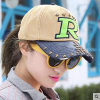 鸭舌帽 女网红同款时尚户外运动新品朋克风时尚男女士运动铆钉棒球帽 韩版潮