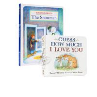 【中商原版】亲子儿童绘本2册 廖彩杏书单 英文原版 The Snowman 获奖绘本 翻翻书