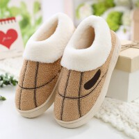 家居保暖冬季居家男士棉鞋家用毛绒拖鞋女室内厚底包跟棉拖鞋
