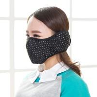 冬天保暖护耳口罩女冬季口罩防寒加厚防尘透气儿童护脸棉布口罩