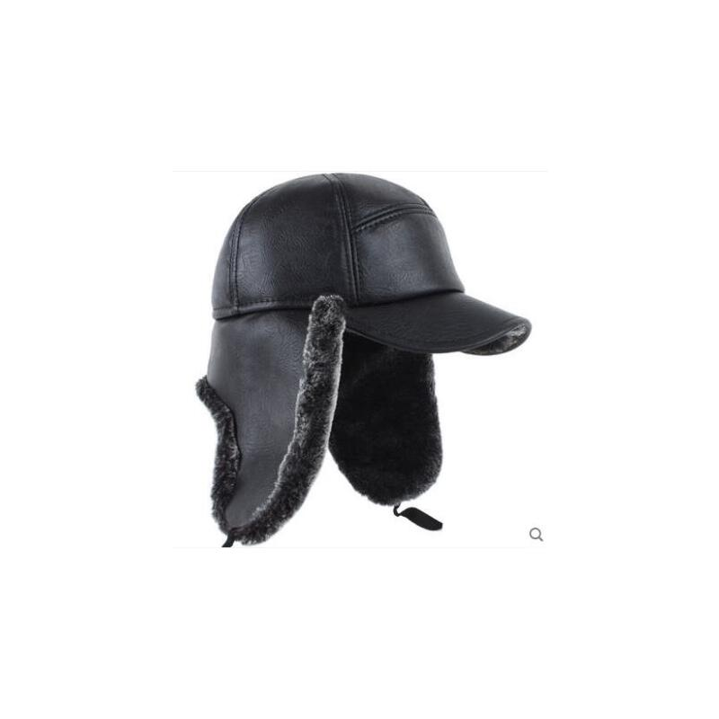 男士帽子冬天老年人男冬护耳东北帽冬天老年帽冬季棒球帽